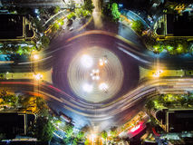 Top view of democracy monument, Thailand. Stock Photo