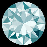 Top View Diamond on Black Background Illustration EPS10 Format Stock Image