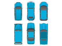 Top view different automobiles Stock Image