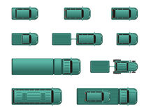 Top view different automobiles. Top view different color automobiles Stock Images
