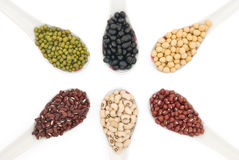 Top view different beans Stock Photo