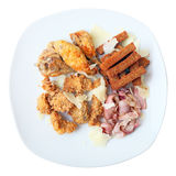 Top view of different snacks to beer Royalty Free Stock Photography