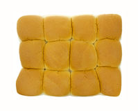 Top view of dinner rolls Royalty Free Stock Image