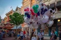 Top view of Disney balloons at Magic Kingdom in Walt Disney World area 1
