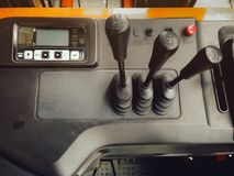 Top view of display and panel control of forklift truck for lift Royalty Free Stock Photography