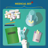 Top view of doctor's work space Royalty Free Stock Image