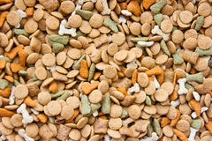 Top view of dog food Royalty Free Stock Photography