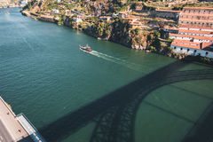 Top view of the Douro river in Porto, Portugal Stock Photography