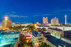 Downtown San Antonio skyline. Top view of downtown San Antonio in Texas USA Royalty Free Stock Images