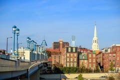 Top view of downtown skyline Philadelphia Stock Photo