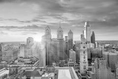 Top view of downtown skyline Philadelphia USA stock photos