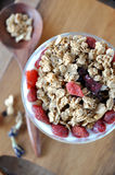 Top View of Dried Berry with Granola Royalty Free Stock Image