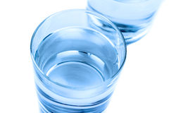 Top of view of drink glass with water, nutrition and health-care concept Stock Photography