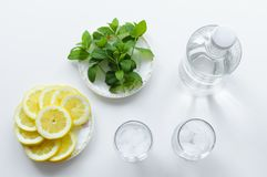 Top view of drink preparation. royalty free stock photos