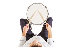Top view of the drum Royalty Free Stock Images