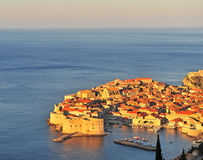 Top view of Dubrovnik with a nice morning light Royalty Free Stock Images
