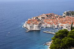 Top view of Dubrovnik old town Stock Photos