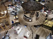 Top view of the duty free zone inside the new international airport of Muscat. royalty free stock images