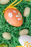 Top view of easter eggs Stock Photography
