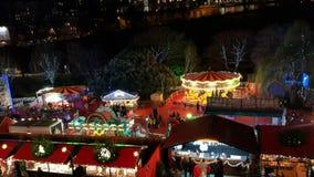 Top view of Edinburgh Christmas Market Stock Photos