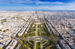 Top view from Eiffel tower Royalty Free Stock Image
