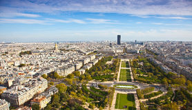 Field of Mars. Top view. Paris. France Stock Photo
