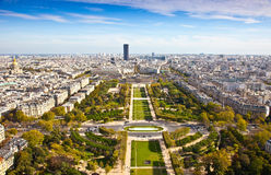 Field of Mars. Top view. Paris. France Stock Images
