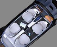 Top view of electric car interior Stock Photos
