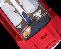 Top view of electric car interior Stock Image
