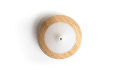 Top view electric wooden aroma oil diffuser isolated Stock Image