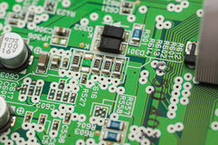 Top view of electronic plate Stock Photos