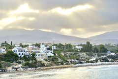 View of embankment at Paphos Harbour, Cyprus Stock Photos