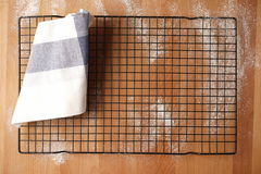 Top view of an empty baking tray Stock Photography