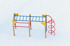 Top view of empty children playground Royalty Free Stock Photos