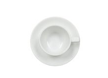Top view of empty coffee cup on White Background Stock Images