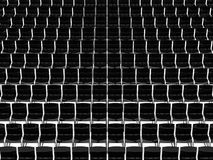 Top view - empty conference hall. 3D render illustration of an empty conference hall. The composition is isolated on a white background with no shadows and is Royalty Free Stock Photos