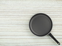 Top View Empty Pan On Table Background. Top View Empty Pan On The Table Background Stock Images