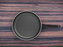 Top View Empty Pan On Table Background. Top View Empty Pan On The Table Background Stock Photography