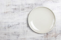 Top view empty plate Stock Photo