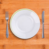 Top view of empty plate Royalty Free Stock Photo