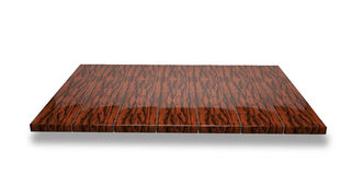 Top view on empty polished dark wooden table or counter  Royalty Free Stock Images