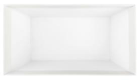 Top view of empty shoe box Stock Photo