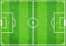 Soccer football grass field Stock Photos