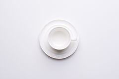 Top view on empty white coffee Royalty Free Stock Image
