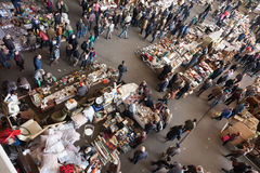Top view of Encants Vells flea market Royalty Free Stock Photos