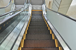 Top view of escalator. Top view escalator in the building Royalty Free Stock Photo