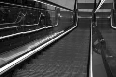 Top view of the escalator in the mall royalty free stock photos