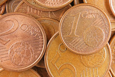 Top view euro money Royalty Free Stock Photo