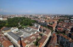 Top view of a European metropolis Royalty Free Stock Image