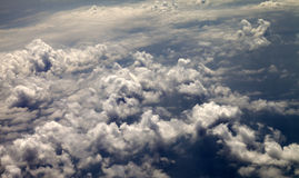 Top view on evening clouds Stock Images